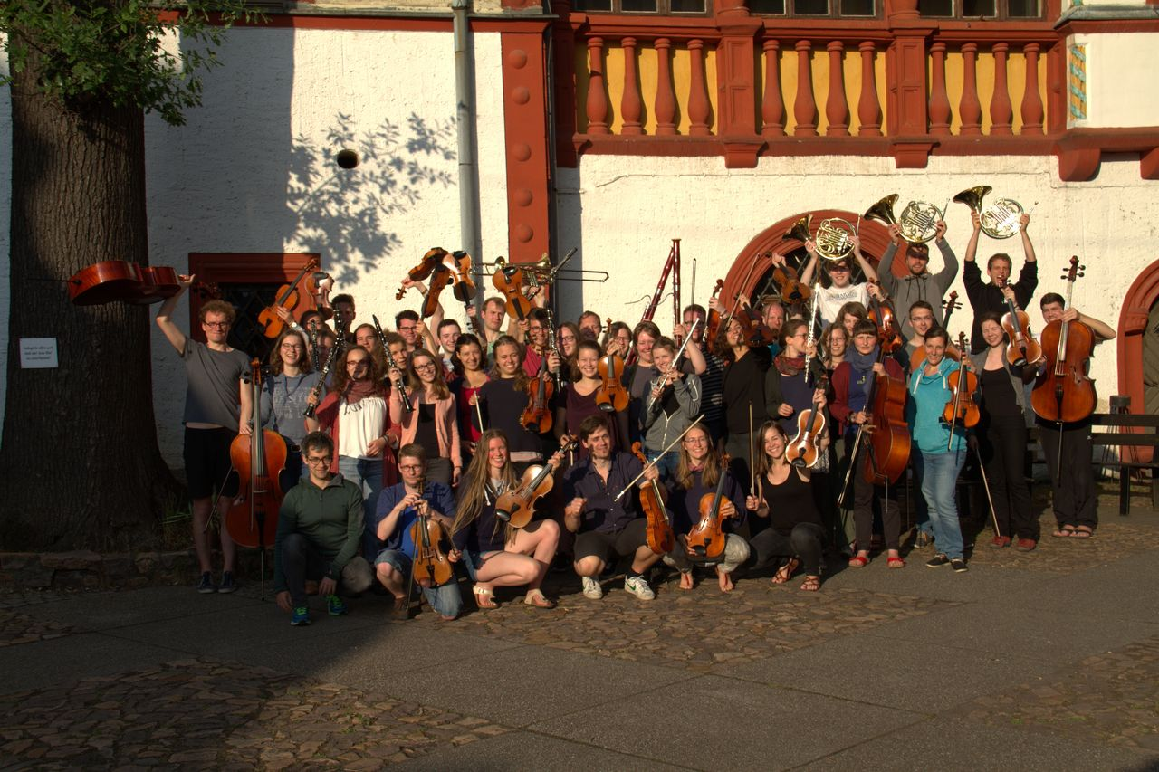 Group picture of the HTWK Orchestra