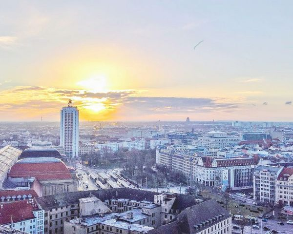 View over Leipzig