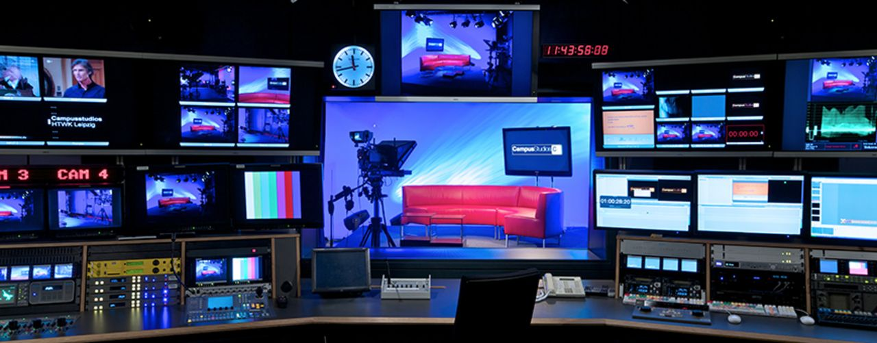 Studio of the media centre at the HTWK Leipzig