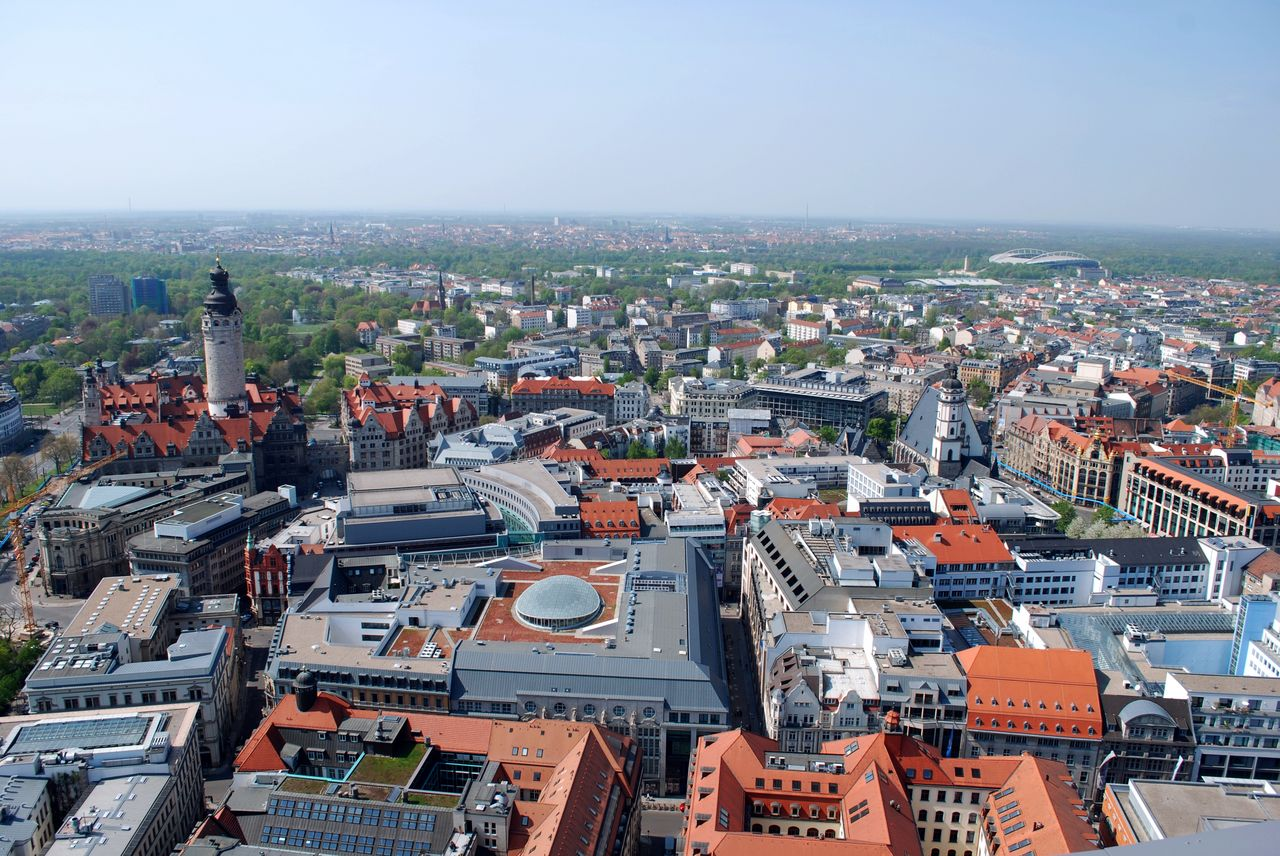 View over Leipzig city